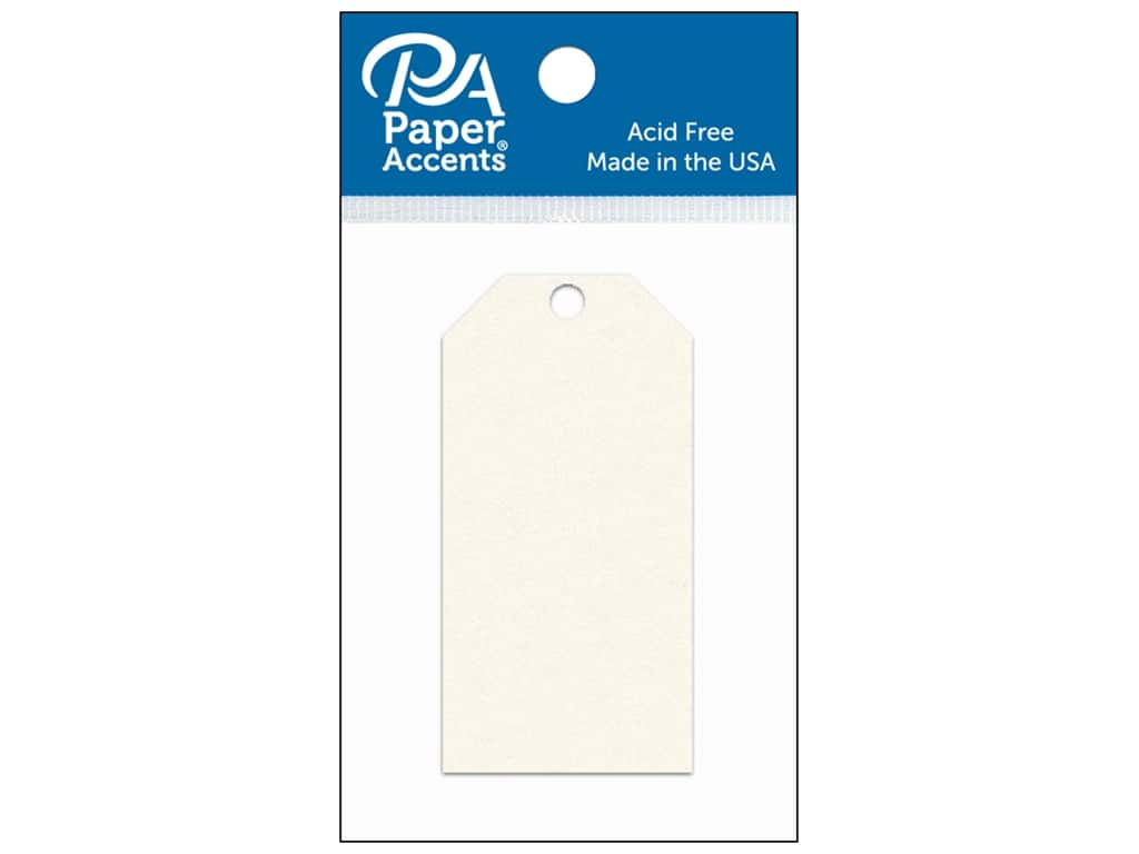 Paper Accents Craft Tags 1 5/8 x 3 1/4 in. 25 pc. Cream