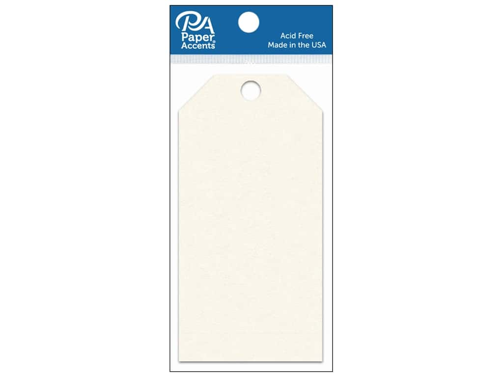 Paper Accents Craft Tags 2 1/2 x 5 1/4 in. 25 pc. Cream