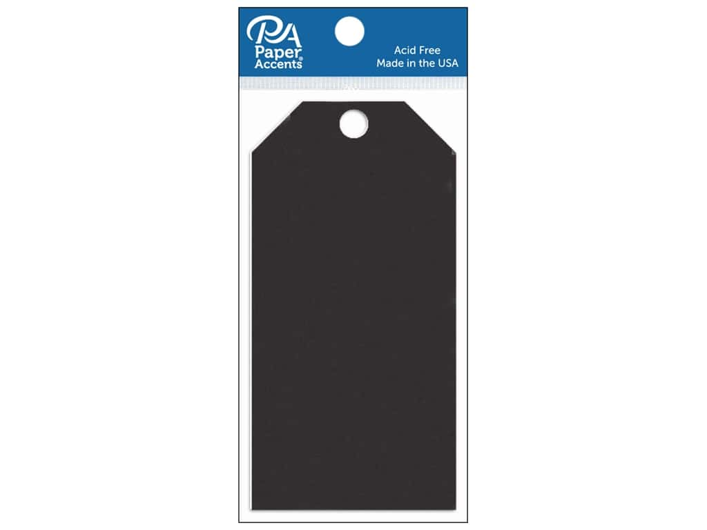 Paper Accents Craft Tags 2 1/2 x 5 1/4 in. 20 pc. Black