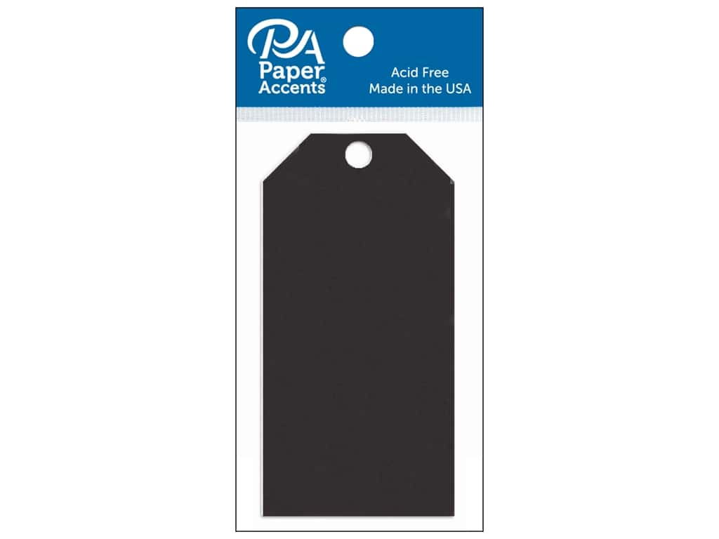 Paper Accents Craft Tags 2 1/8 x 4 1/4 in. 20 pc. Black