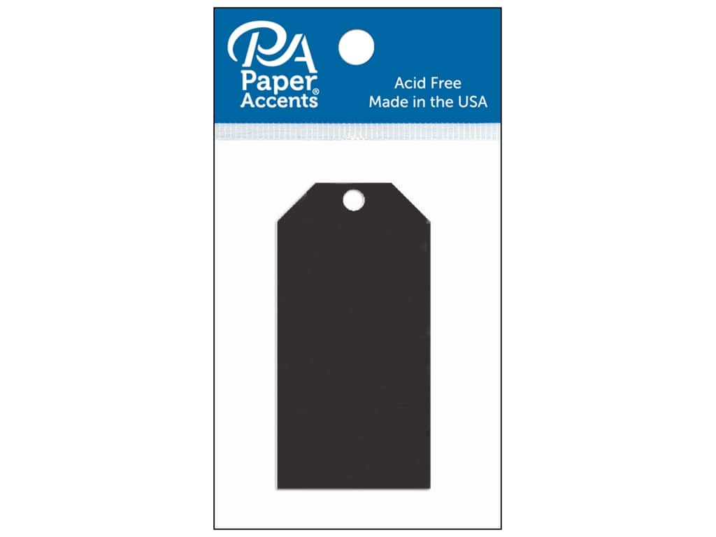 Paper Accents Craft Tags 1 5/8 x 3 1/4 in. 20 pc. Black