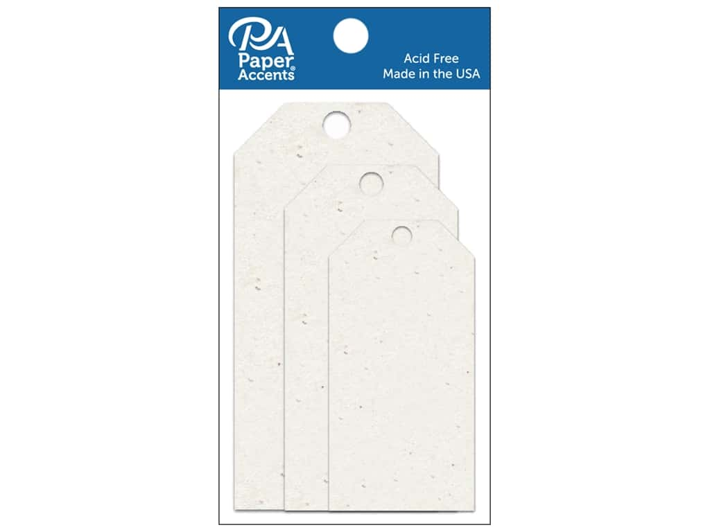 Paper Accents Craft Tags Assorted 25 pc. Birch