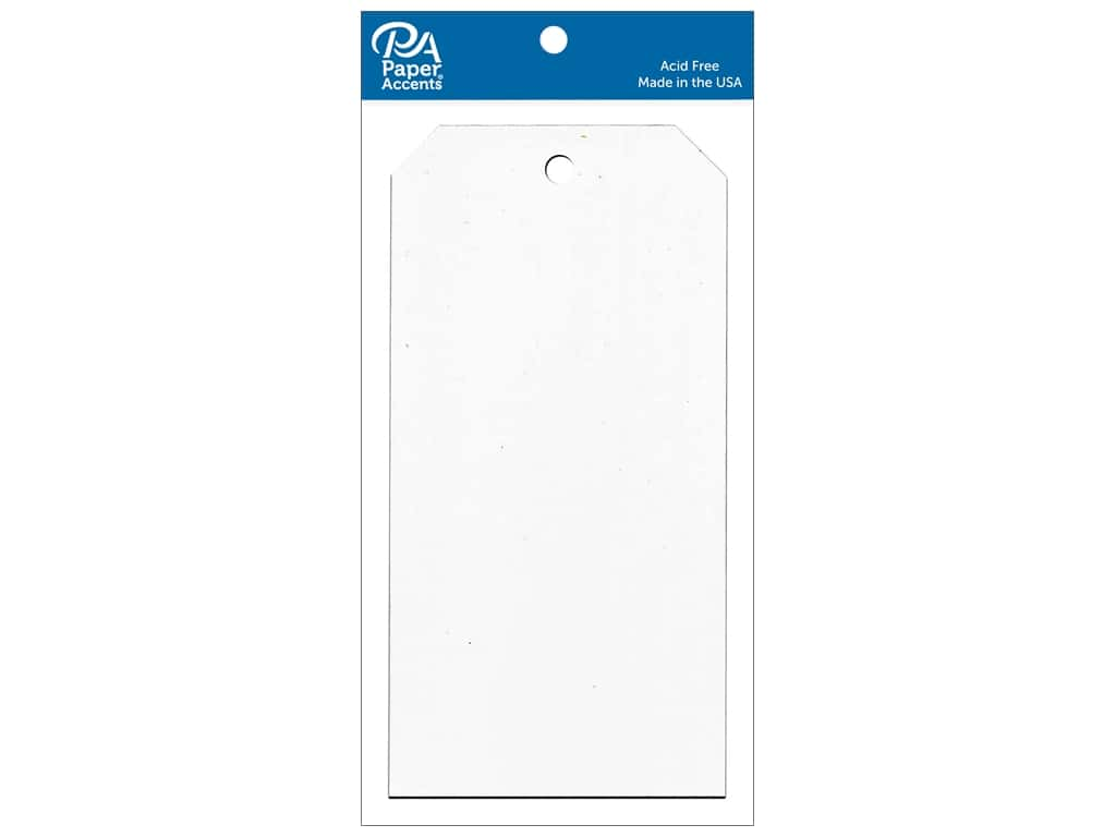 Paper Accents Craft Tags 3 1/8 x 6 1/4 in. 25 pc. White