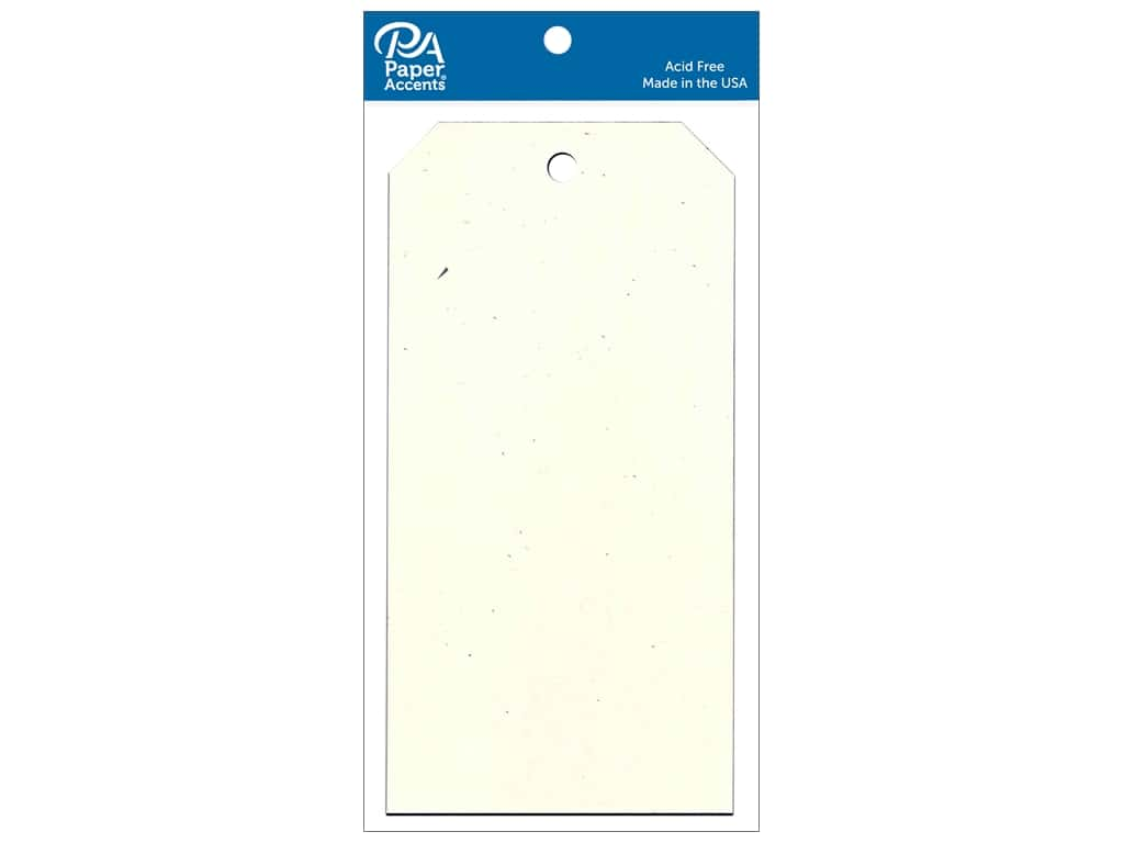 Paper Accents Craft Tags 3 1/8 x 6 1/4 in. 25 pc. Birch