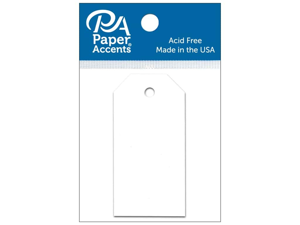 Paper Accents Craft Tags 1 1/4 x 2 1/2 in. 25 pc. White
