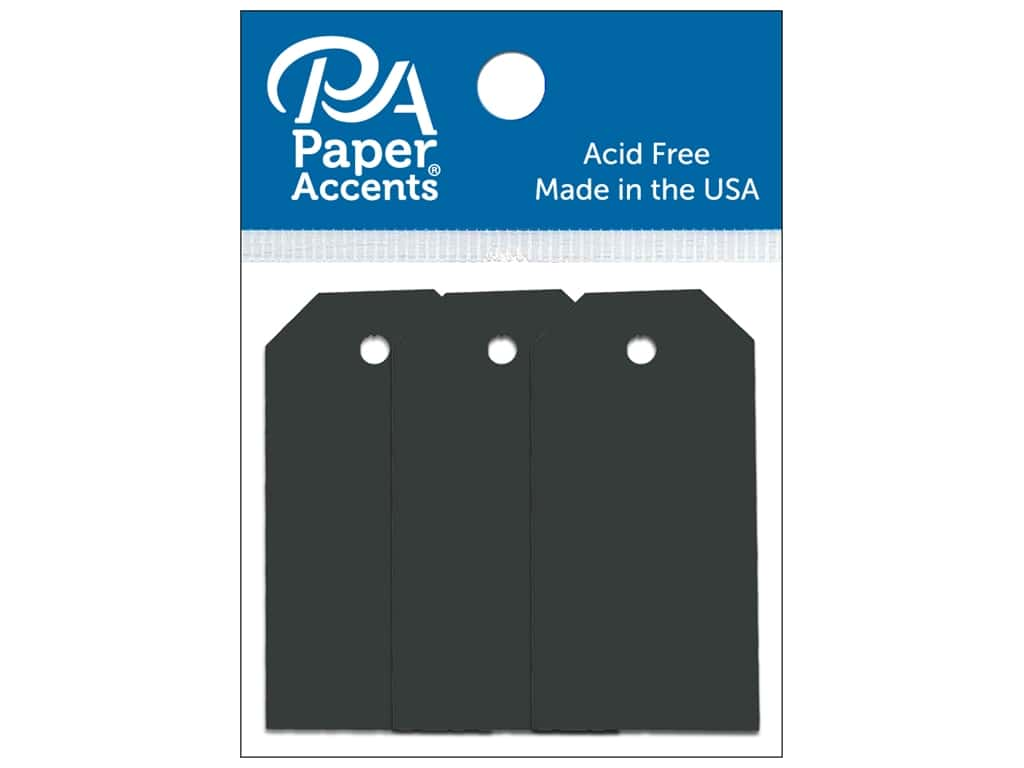 Paper Accents Craft Tags 7/8 x 1 3/4 in. 20 pc. Black
