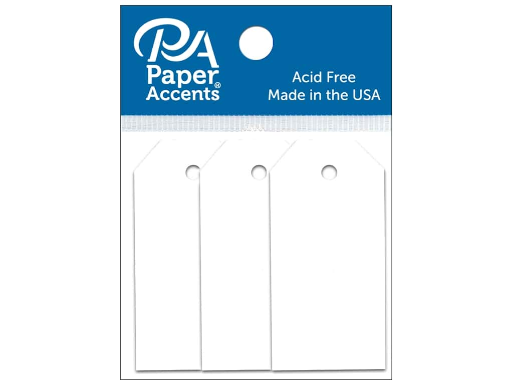 Paper Accents Craft Tags 7/8 x 1 3/4 in. 25 pc. White