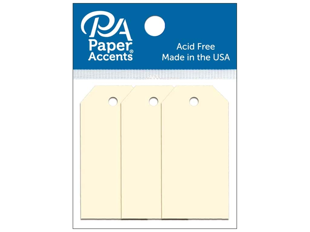 Paper Accents Craft Tags 7/8 x 1 3/4 in. 25 pc. Manila