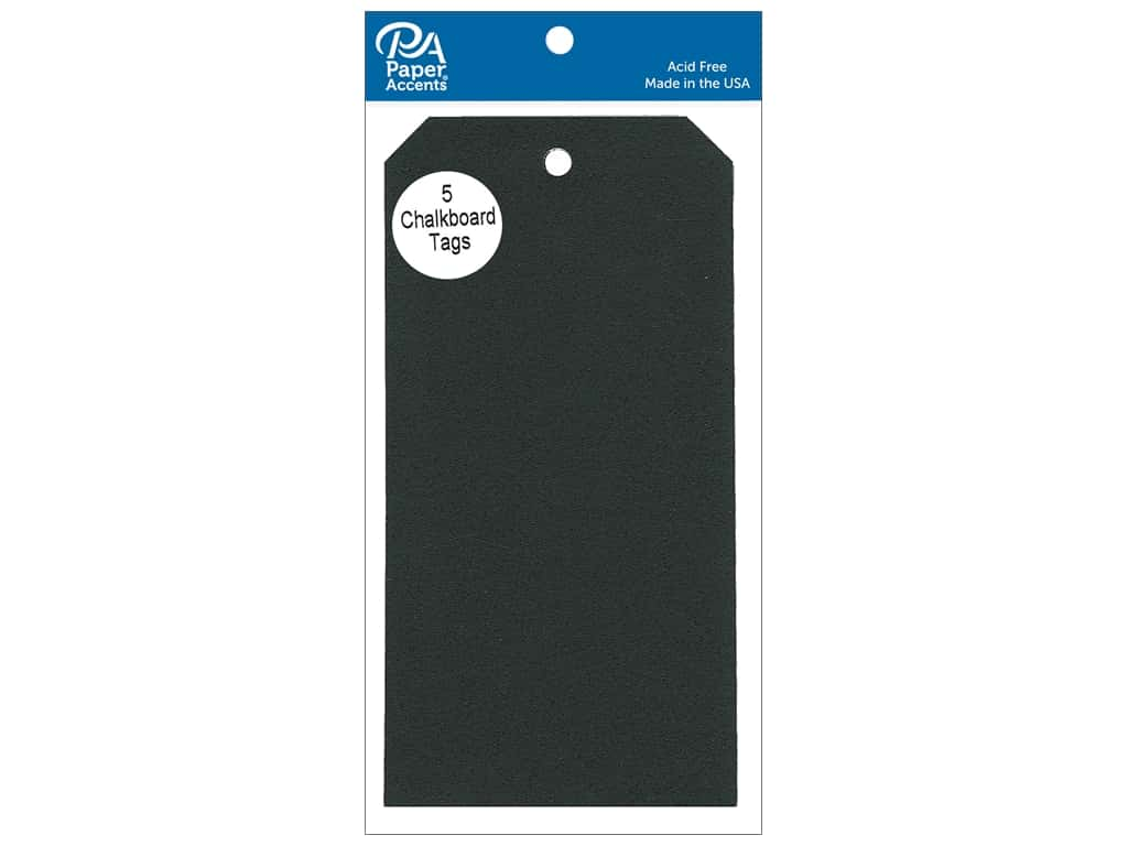Paper Accents Craft Tags 3 1/8 x 6 1/4 in. 5 pc. Adhesive Chalkboard