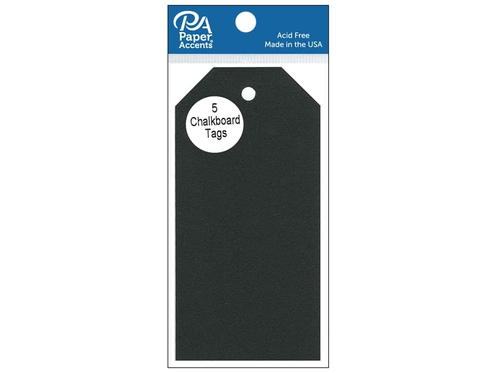 Paper Accents Craft Tags 2 1/2 x 5 1/4 in. 5 pc. Adhesive Chalkboard