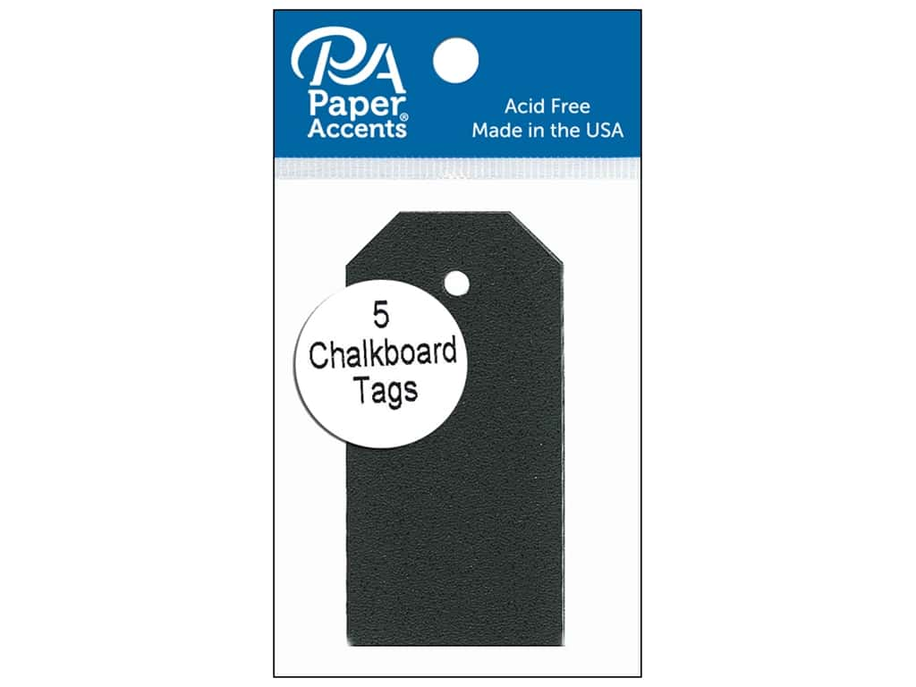 Paper Accents Craft Tags 1 5/8 x 3 1/4 in. 5 pc. Adhesive Chalkboard