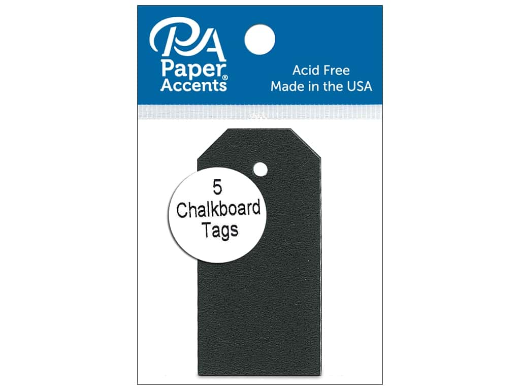 Paper Accents Craft Tags 1 1/4 x 2 1/2 in. 5 pc. Adhesive Chalkboard