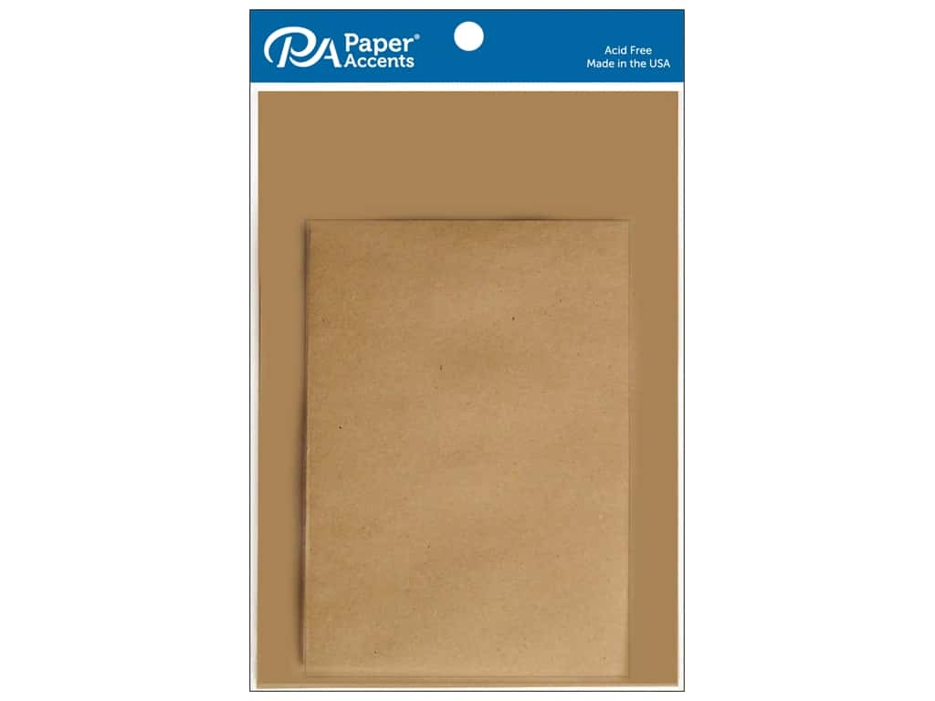 Paper Accents 5 x 7 in. Blank Card & Envelopes 8 pc. #357 Brown Bag