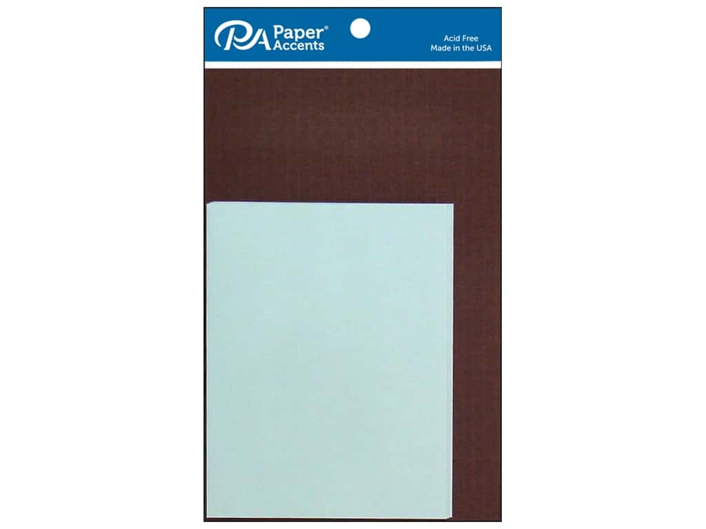 Paper Accents 4 1/4 x 5 1/2 in. Blank Card & Envelopes 8 pc. Espresso & Light Blue