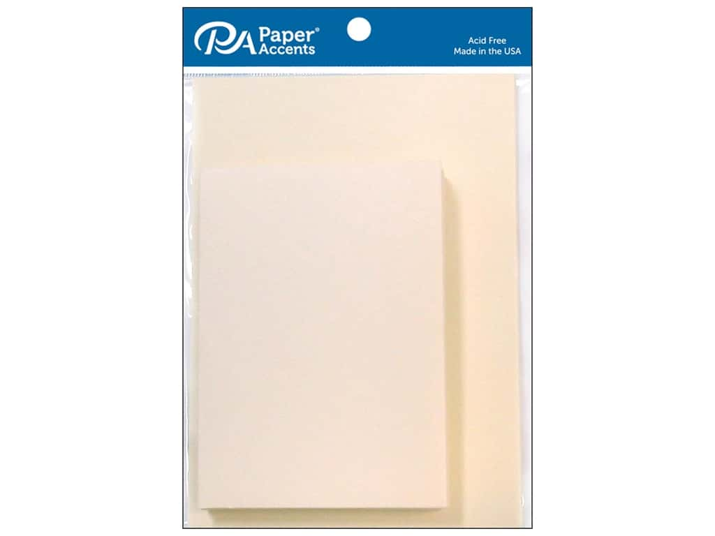 Paper Accents 3 1/2 x 5 in. Blank Card & Envelopes 10 pc. RSVP Cream