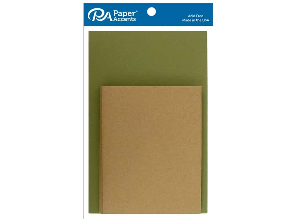 Paper Accents 4 1/4 x 5 1/2 in. Blank Card & Envelopes 8 pc. Camo & Brown Bag