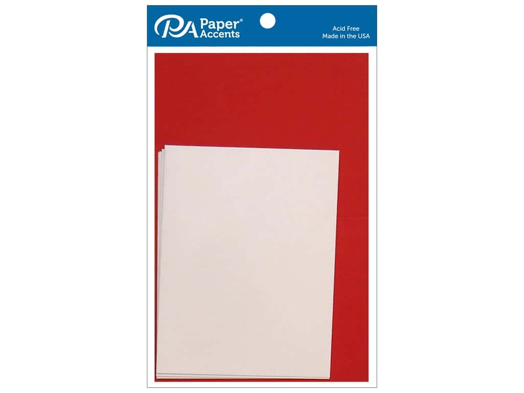 Paper Accents 4 1/4 x 5 1/2 in. Blank Card & Envelopes 10 pc. Dark Red & White