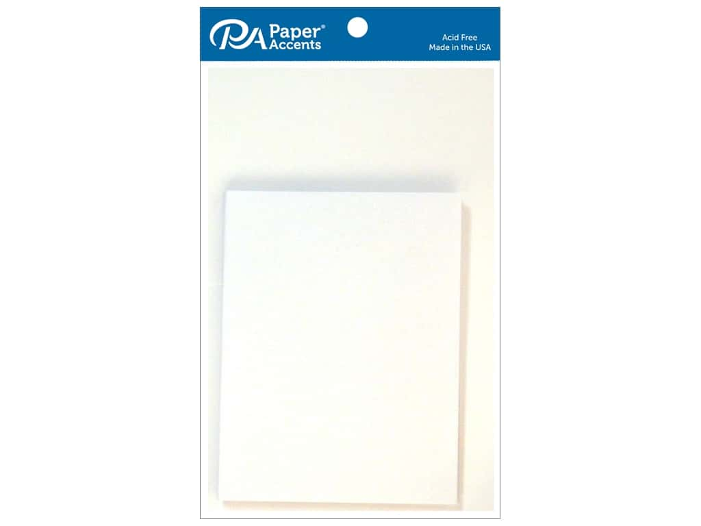 Paper Accents Blank Card & Envelopes - 4 1/4 x 5 1/2 in. - Glossy White 10 pc.