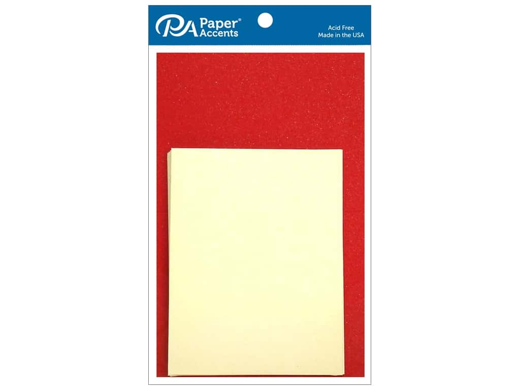 Paper Accents 4 1/4 x 5 1/2 in. Blank Card & Envelopes 10 pc. Pearlized Red