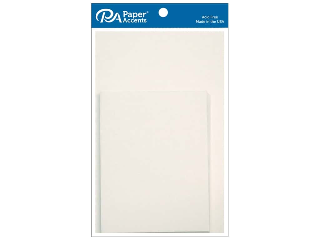 Paper Accents Blank Card & Envelopes - 4 1/4 x 5 1/2 in. - Linen White 10 pc.
