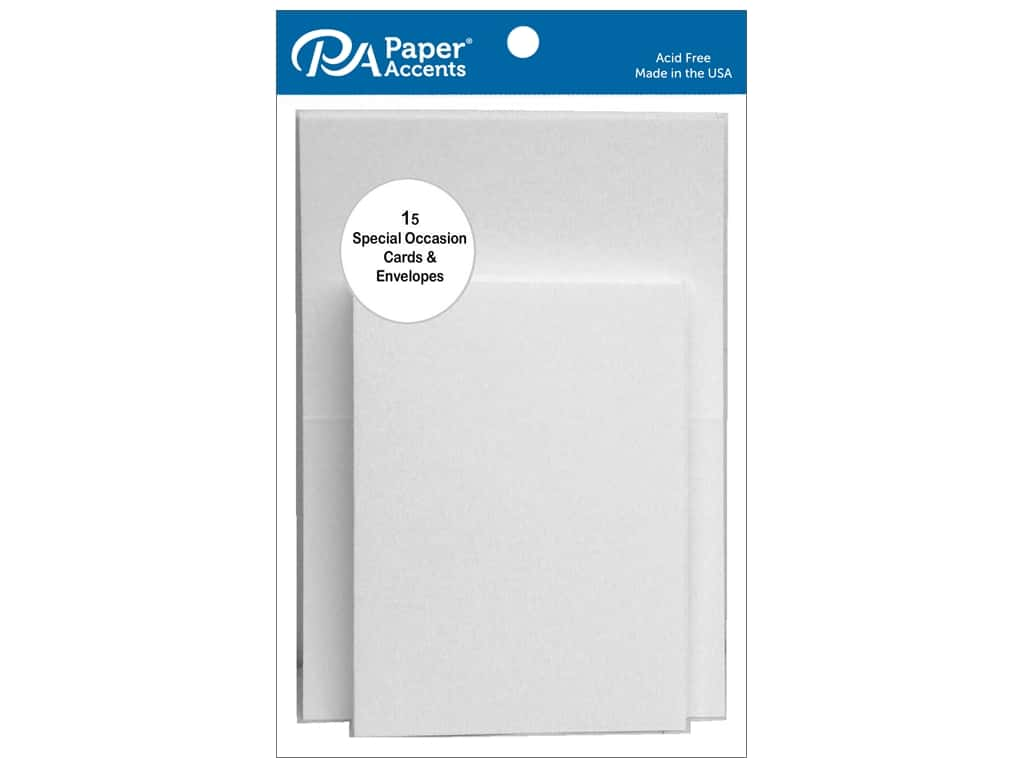 Paper Accents Blank Card & Envelopes - 2 1/2 x 3 1/2 in. - White 15 pc.
