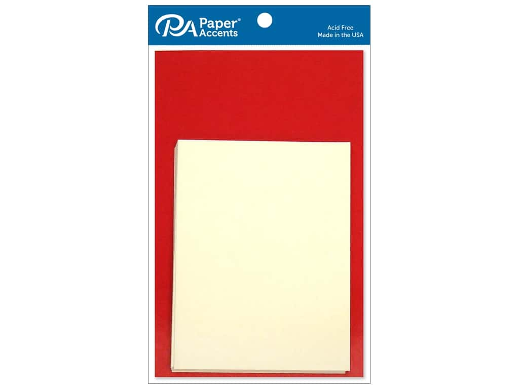 Paper Accents 4 1/4 x 5 1/2 in. Blank Card & Envelopes 10 pc. Dark Red & Cream