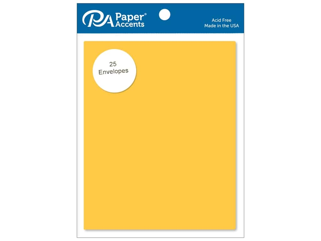 Paper Accents 4 1/4 x 5 1/2 in. Envelopes 25 pc. #105 Canary Yellow