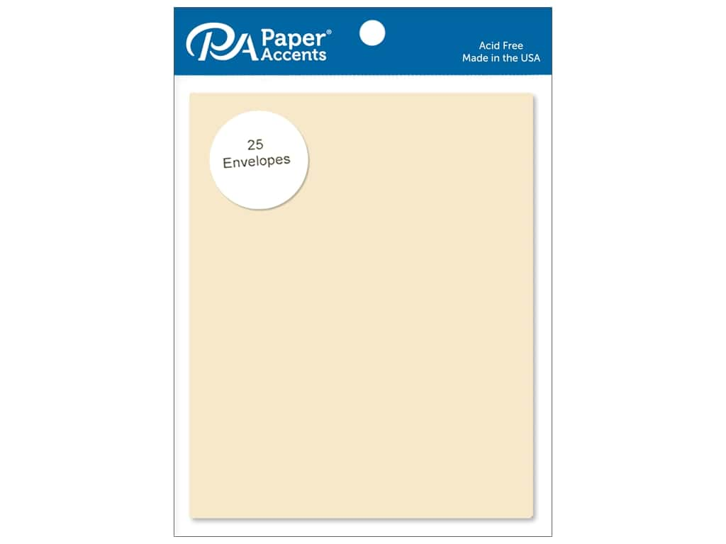 Paper Accents 4 1/4 x 5 1/2 in. Envelopes 25 pc. #122 Ivory