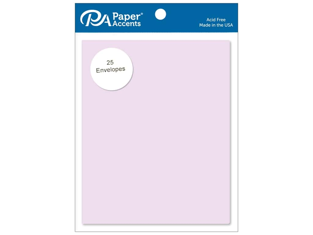 Paper Accents 4 1/4 x 5 1/2 in. Envelopes 25 pc. #123 Lavender