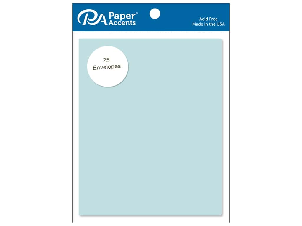 Paper Accents 4 1/4 x 5 1/2 in. Envelopes 25 pc. #116 Blue