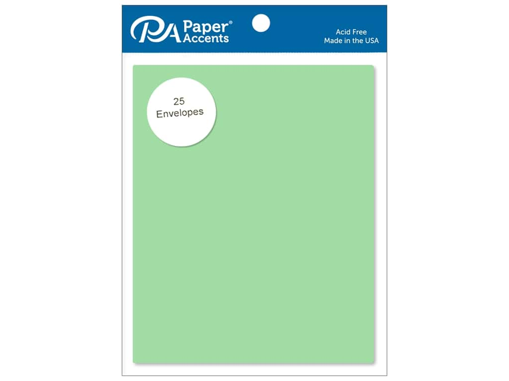 Paper Accents 4 1/4 x 5 1/2 in. Envelopes 25 pc. #118 Green