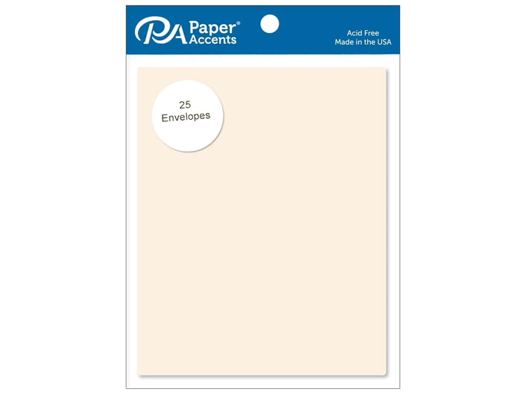 Paper Accents 4 1/4 x 5 1/2 in. Envelopes 25 pc. #119 Cream