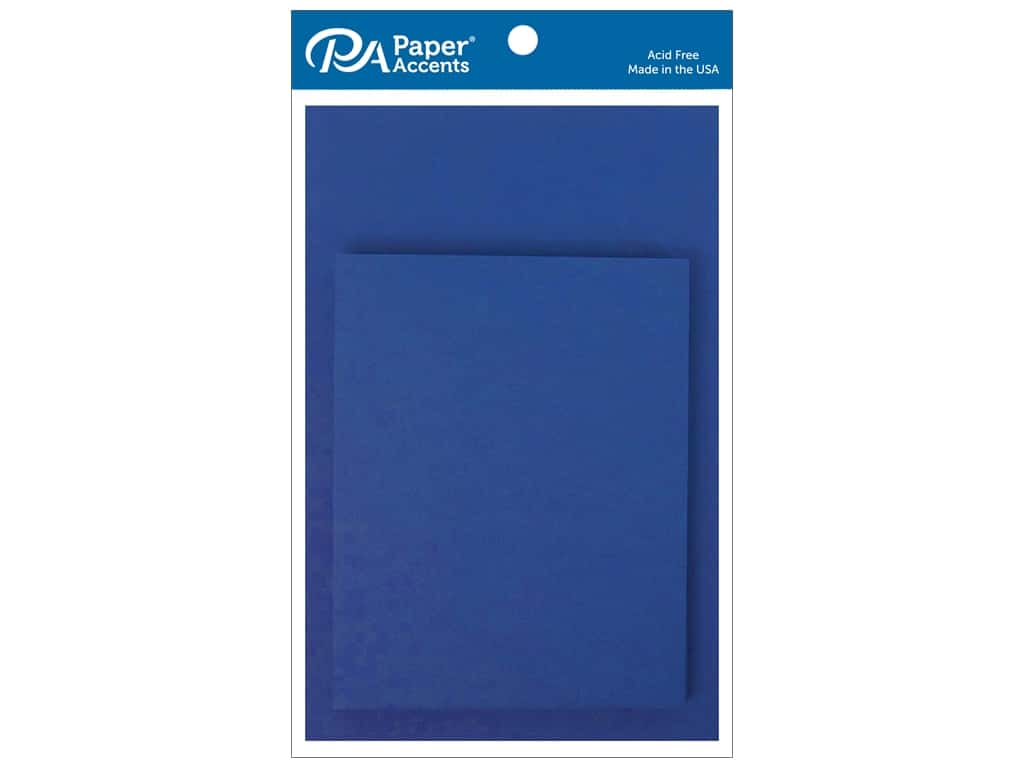 Paper Accents 4 1/4 x 5 1/2 in. Blank Card & Envelopes 10 pc. Royal Blue