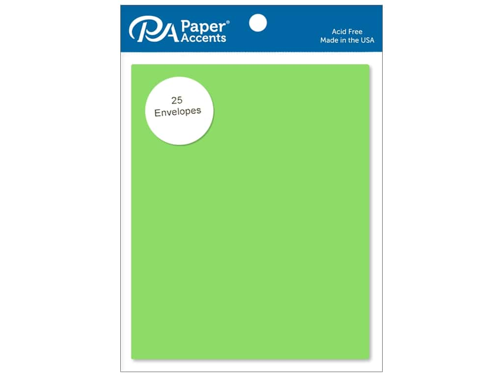 Paper Accents 4 1/4 x 5 1/2 in. Envelopes 25 pc. #113 Lime Green