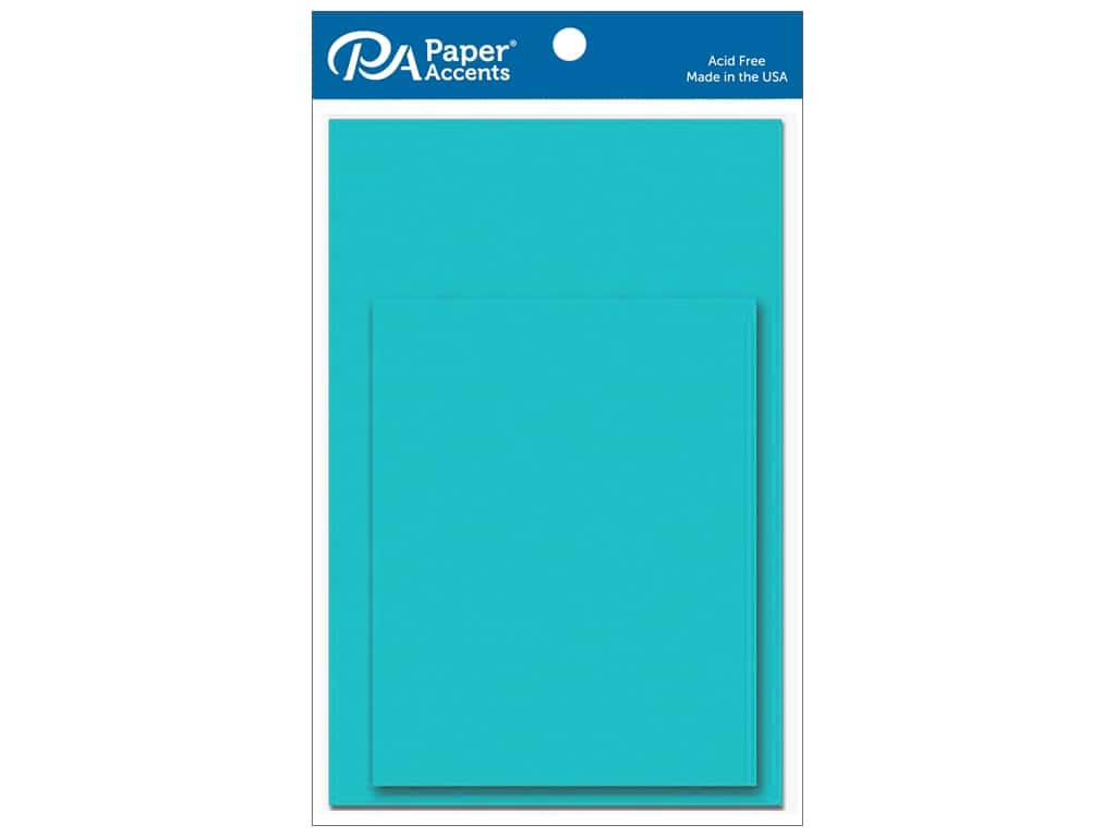 Paper Accents 4 1/4 x 5 1/2 in. Blank Card & Envelopes 10 pc. Sea Blue
