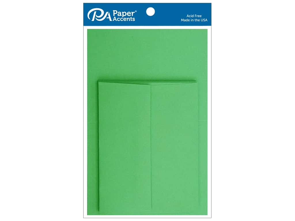 Paper Accents 4 1/4 x 5 1/2 in. Blank Card & Envelopes 10 pc. Green Grass