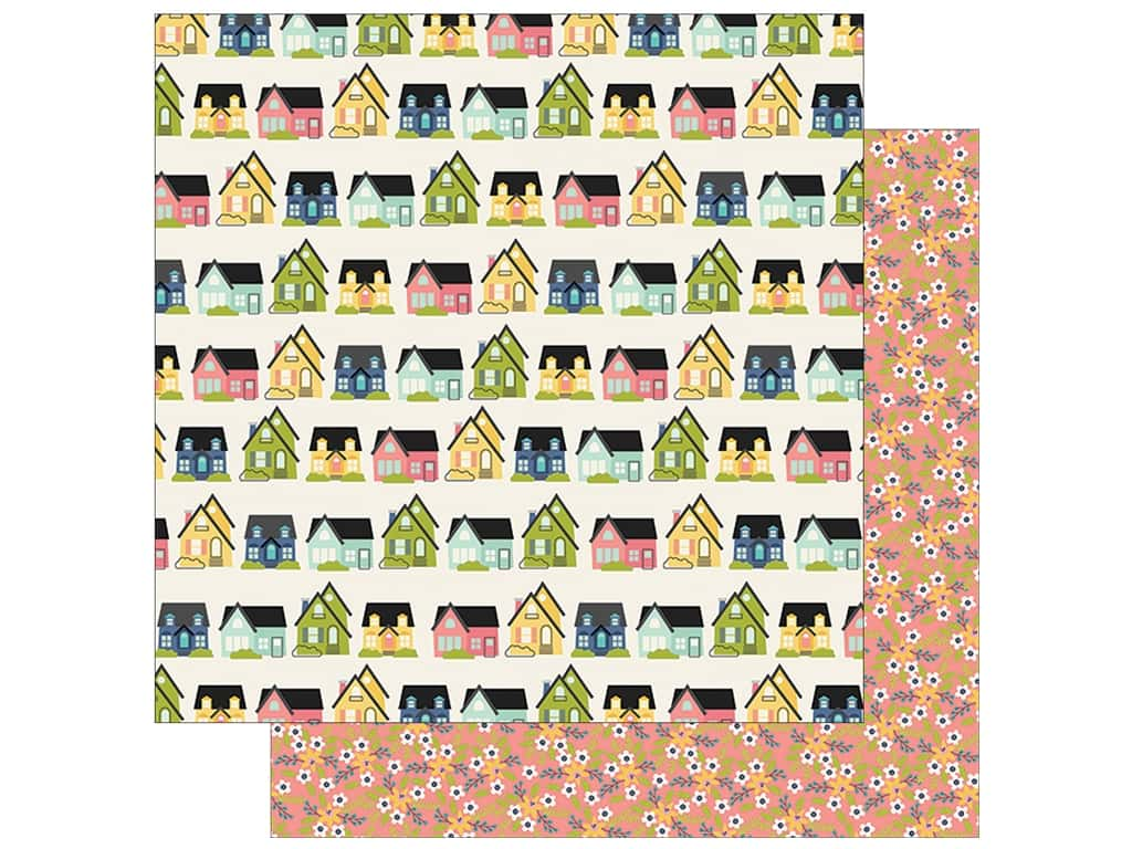 "Simple Stories Collection Domestic Bliss Paper 12""x 12"" Home Sweet Home (25 pieces)"