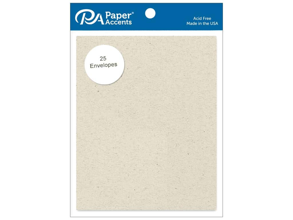 Paper Accents 4 1/4 x 5 1/2 in. Envelopes 25 pc. Beach Sand