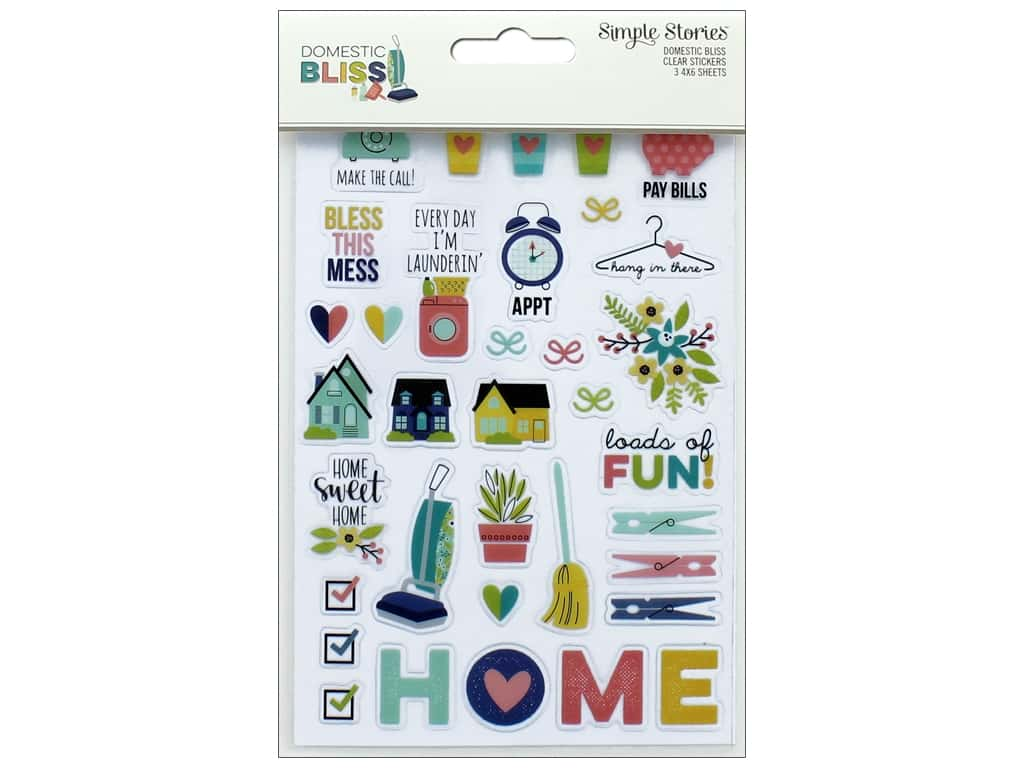 Simple Stories Collection Domestic Bliss Sticker Clear
