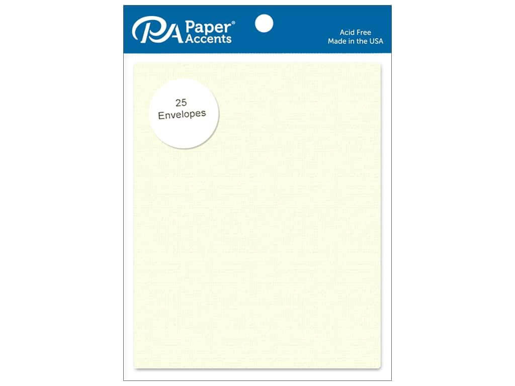 Paper Accents 4 1/4 x 5 1/2 in. Envelopes 25 pc. #402 Linen Light Ivory