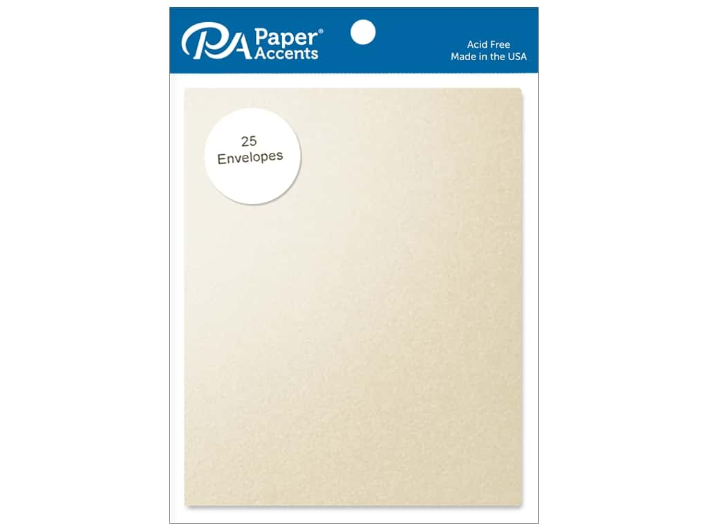 Paper Accents 4 1/4 x 5 1/2 in. Envelopes 25 pc. #884 Pearlized Cream
