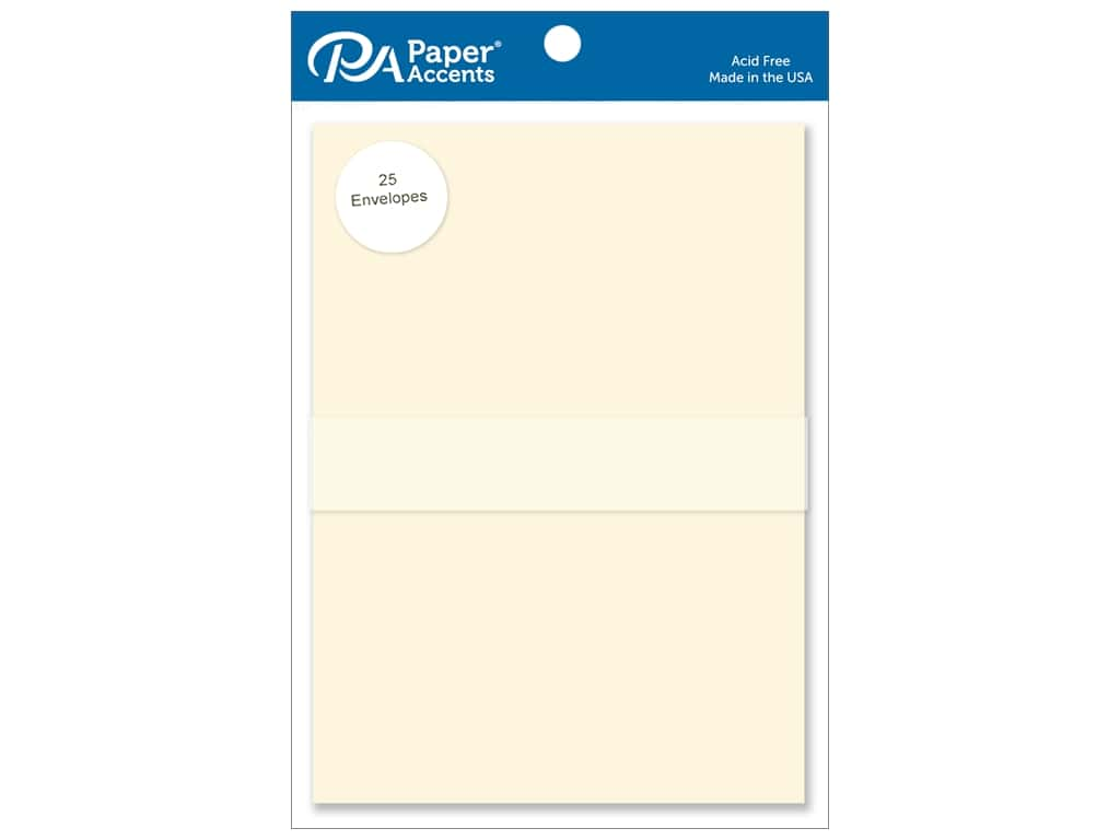 Paper Accents 5 x 7 in. Envelopes 25 pc. #122 Ivory