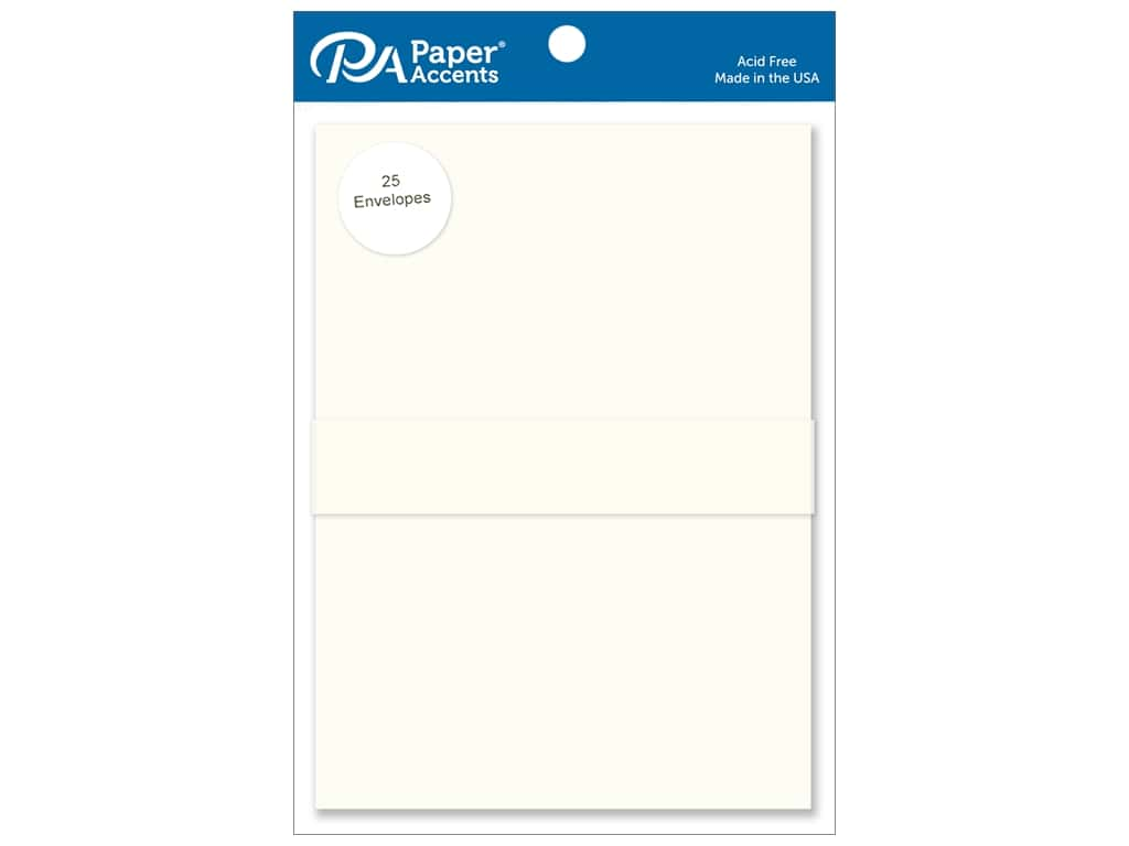 Paper Accents 5 x 7 in. Envelopes 25 pc. #119 Cream