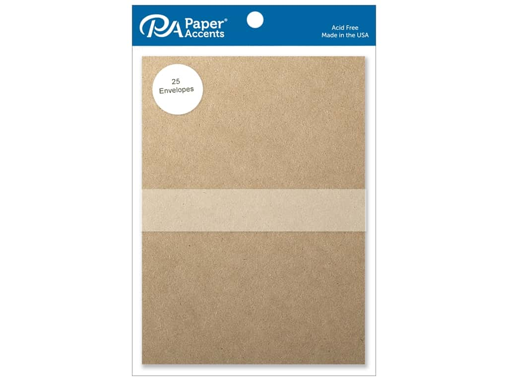 Paper Accents 5 x 7 in. Envelopes 25 pc. Brown Bag