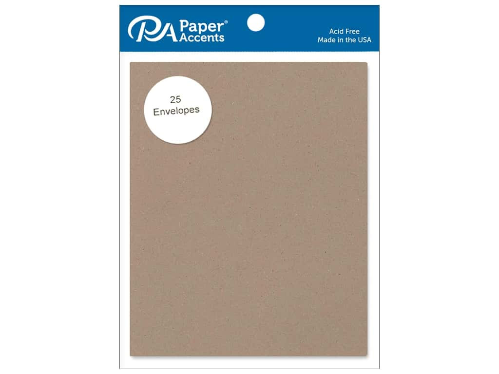 4 1/4  x 5 1/2 in. Envelopes by Paper Accents 25 pc. #364 Russet