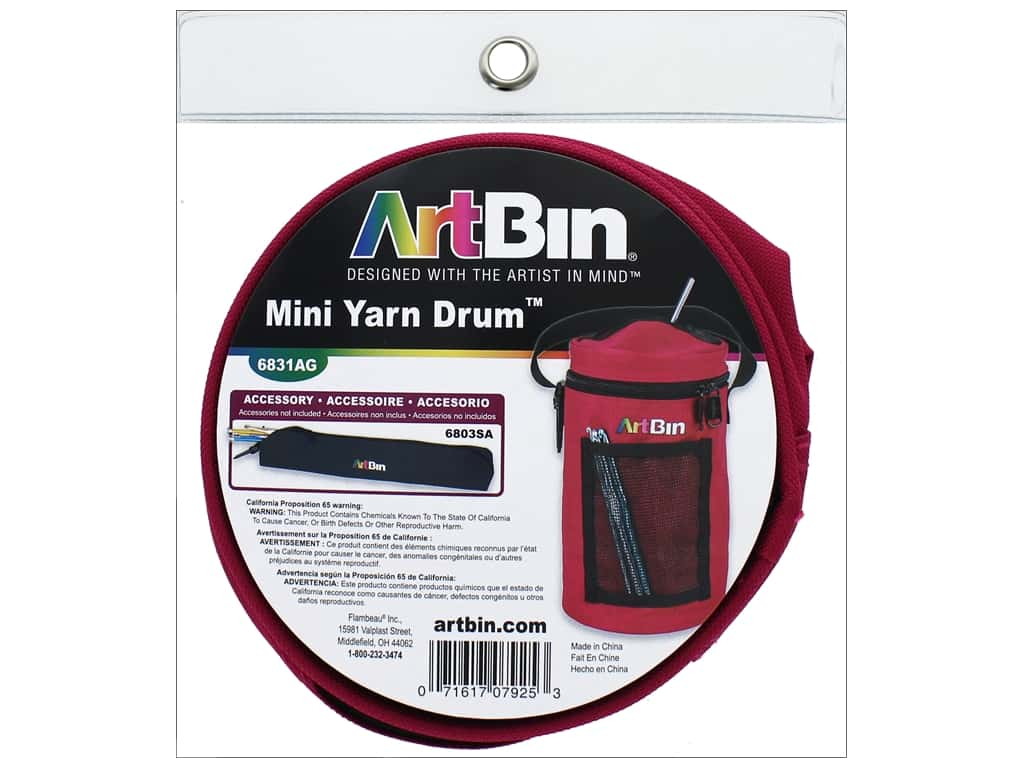 ArtBin Yarn Drum Mini Raspberry