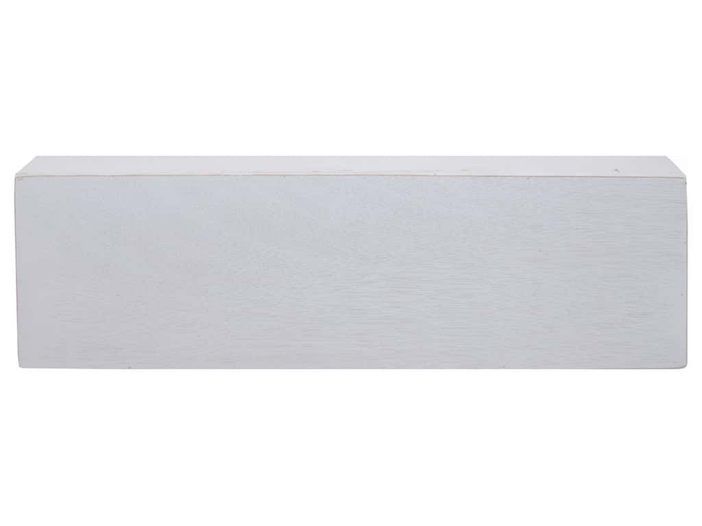 Sierra Pacific Crafts Wood Base Rectangle 20 in.  x 7.75 in.  x 1.5 in.  White