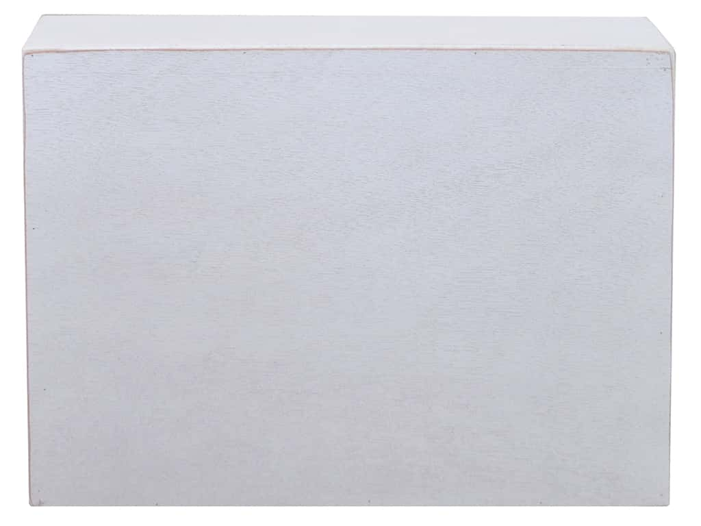 Sierra Pacific Crafts Wood Box Square 12 in. x 12  in. x 1.5 in. White