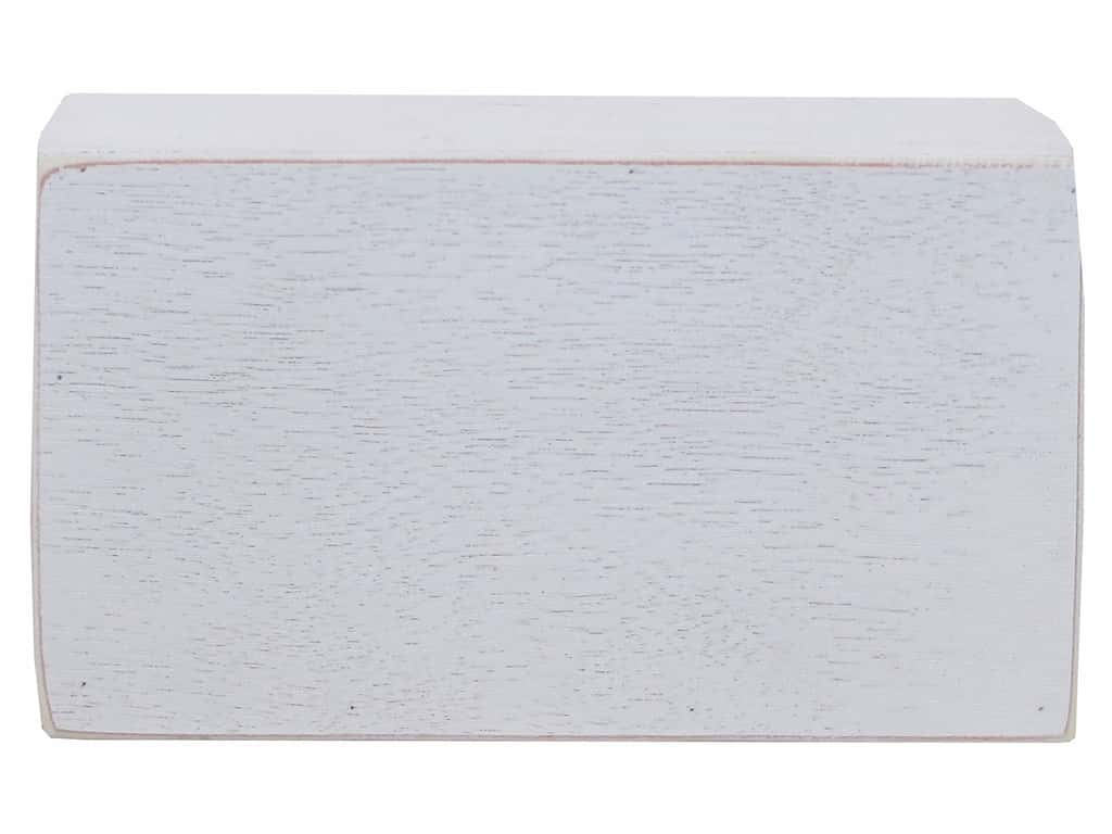 Sierra Pacific Crafts Wood Box Mini Rectangle 7.75 in. x 5 in. x 1.5 in. White