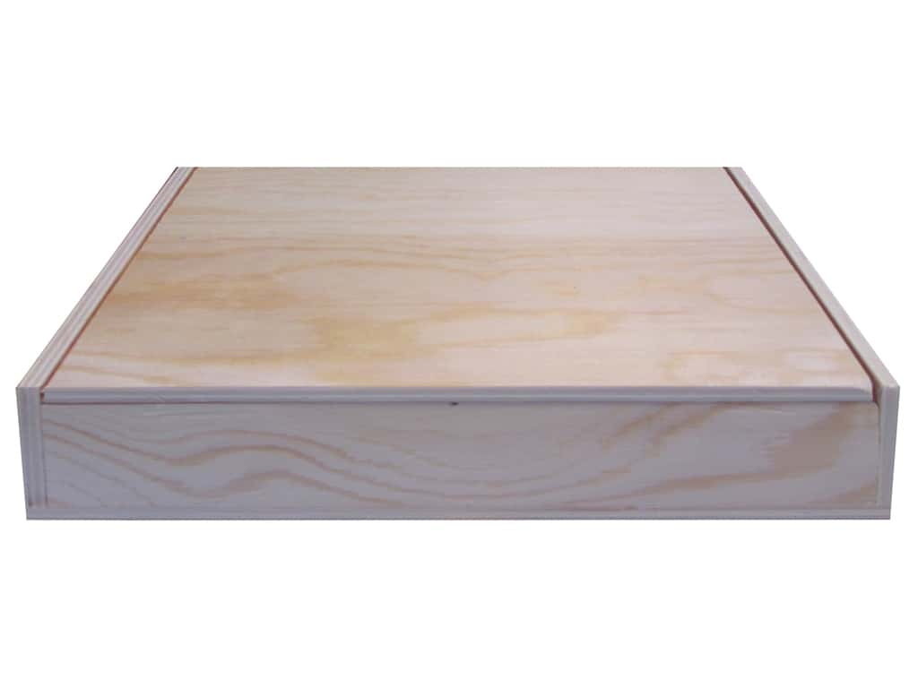 Sierra Pacific Crafts Wood Box 9.25 in. x 6 in. x 2 in.  Natural